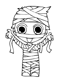 halloween coloring page mummy coloring pages 4887