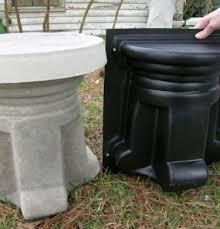 ornamental concrete molds stool pedestal bench leg free