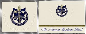 the national graduate school graduation announcements the