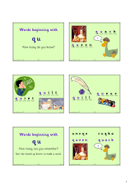 words starting with qu phonics home page