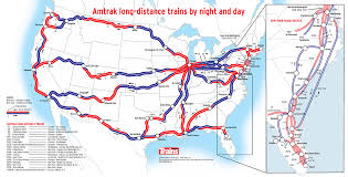 amtrak map usa usa map showing what parts of an amtrak route are traversed