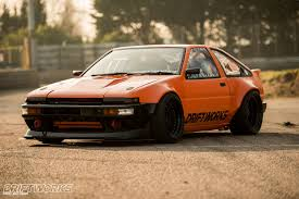 modded cars an ae86 modded by driftworks dubbed