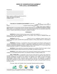 deed of conservation easement
