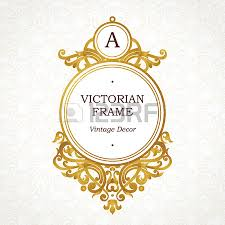 vector golden frame in victorian style ornate element for design