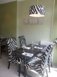 Animal Print Furniture Australia Cowhide Zebra Ottoman With Wood - Animal print dining room chairs