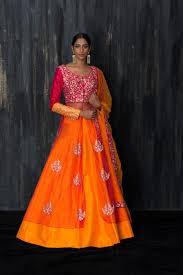 shopping online customized bridal lehenga usa pink and orange