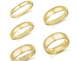 plain gold wedding bands plain gold band etsy