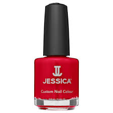jessica nail polish collection summer neon nails atomic red 791