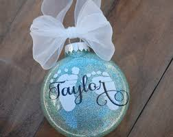 baby u0027s first christmas ornament personalized christmas