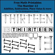 number bonds to 13 free math worksheets