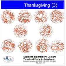 machine embroidery designs thanksgiving 3