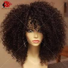 how to tight american hair tight afro kinky curly wig with full bangs kinky curly lace front
