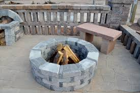 furniture furniture stone outdoor fire pit grate with chairs for