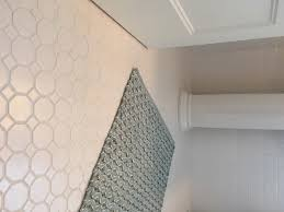 modern vintage white tile with white grout