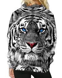 white tiger pullover hoodie into the am