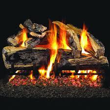 peterson real fyre 24 inch charred rugged split oak gas log set