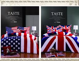 3 4pcs 100 cotton american flag bedding set twin size usa uk flag bedding queen king british flag quilt duvet cover set in bedding sets from home garden