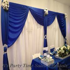 wedding backdrop blue royal blue satin with white pintuck wedding backdrop wedding