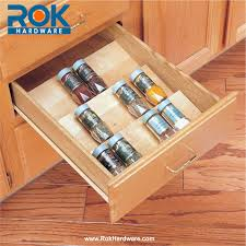 Kitchen Cabinet Inserts Kitchen Sliding Spice Rack For Nice Kitchen Cabinet Design