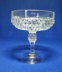 indiana glass diamond point clear pedestal candy dish diamond