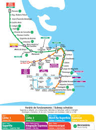 Subway Map by Subway In Rio Rio Com