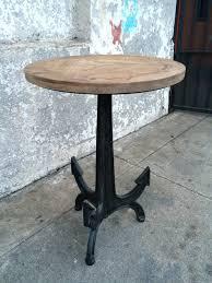 vintage pedestal side table repurposed wood top anchor side table sunbeam vintage pedestal side