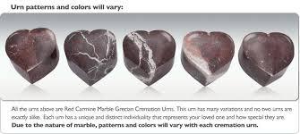 heart urn carmine heart keepsake cremation urn engravable