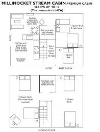 Cabin Floorplan by Resort Lodging Snowmobiling Maine Lakeside Cabins Me