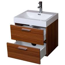 Floating Bathroom Vanities Modern Floating Bathroom Vanity Teak Two Drawers Free Shipping Tn