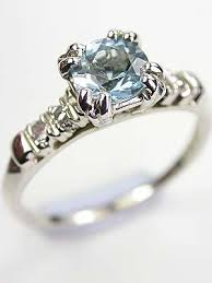 antique aquamarine engagement rings aquamarine engagement rings topazery