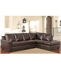 Top Grain Leather Sectional Sofa Sectionals Monaco Top Grain Leather Sectional