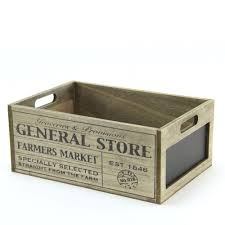 wooden crate general store wooden crate with chalkboard product displays