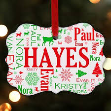 personalized christmas tree ornaments personalised decorations