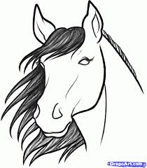 cartoon drawings of horses pencil drawing collection