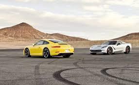 porsche 911 vs corvette edmunds track tests the 2014 corvette stingray vs the 2013 porsche