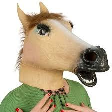 fake horse head women halloween latex adult horse masks lady masquerade silicone