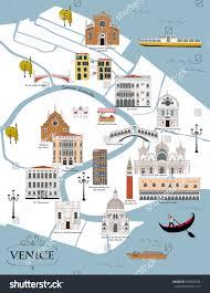 Map Of Venice Map Venice Stock Vector 655895938 Shutterstock