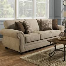 darby home co simmons vicki parchment queen sleeper sofa u0026 reviews