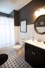 Tile Designs For Bathroom Walls Colors 10 Gorgeous Black And White Bathrooms Huffpost