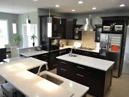 Modern Kitchen Countertops And Backsplash Kitchen Inspiring Modern Interior Design With Quartz Countertops