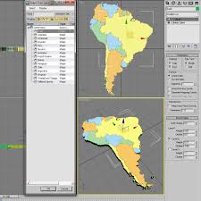 Columbia South America Map 3d Model South America Map Cgtrader