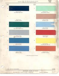 paint chips 1956 ford