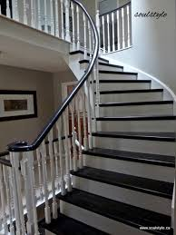 Sanding Banister Best 25 Black Banister Ideas On Pinterest Staircase Remodel