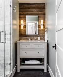 beautiful rustic bathroom designs with found wood pebble tile