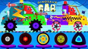car driving truck driver monster truck children dinosaur