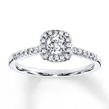 Kay Jewelers Wedding Rings by Kay Diamond Engagement Ring 3 8 Ct Tw Round Cut 10k White Gold