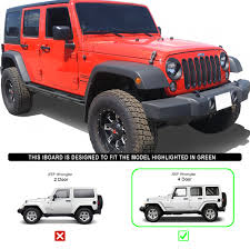 wrangler jeep 4 door black iarmor off road black side steps armor for 07 17 jeep wrangler jk