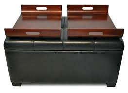 large leather ottoman coffee table s square black leather ottoman