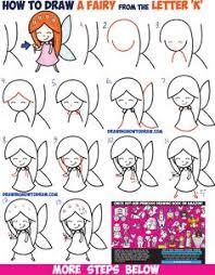 draw cute cartoon mermaid kawaii easy step step
