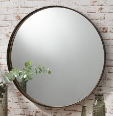 Wall Mirrors Greystoke Large Bronze Round Wall Mirror 33